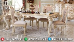 Meja Makan Jepara Klasik, Set Meja Makan Mewah, Mebel Murah Jepara MM-0268