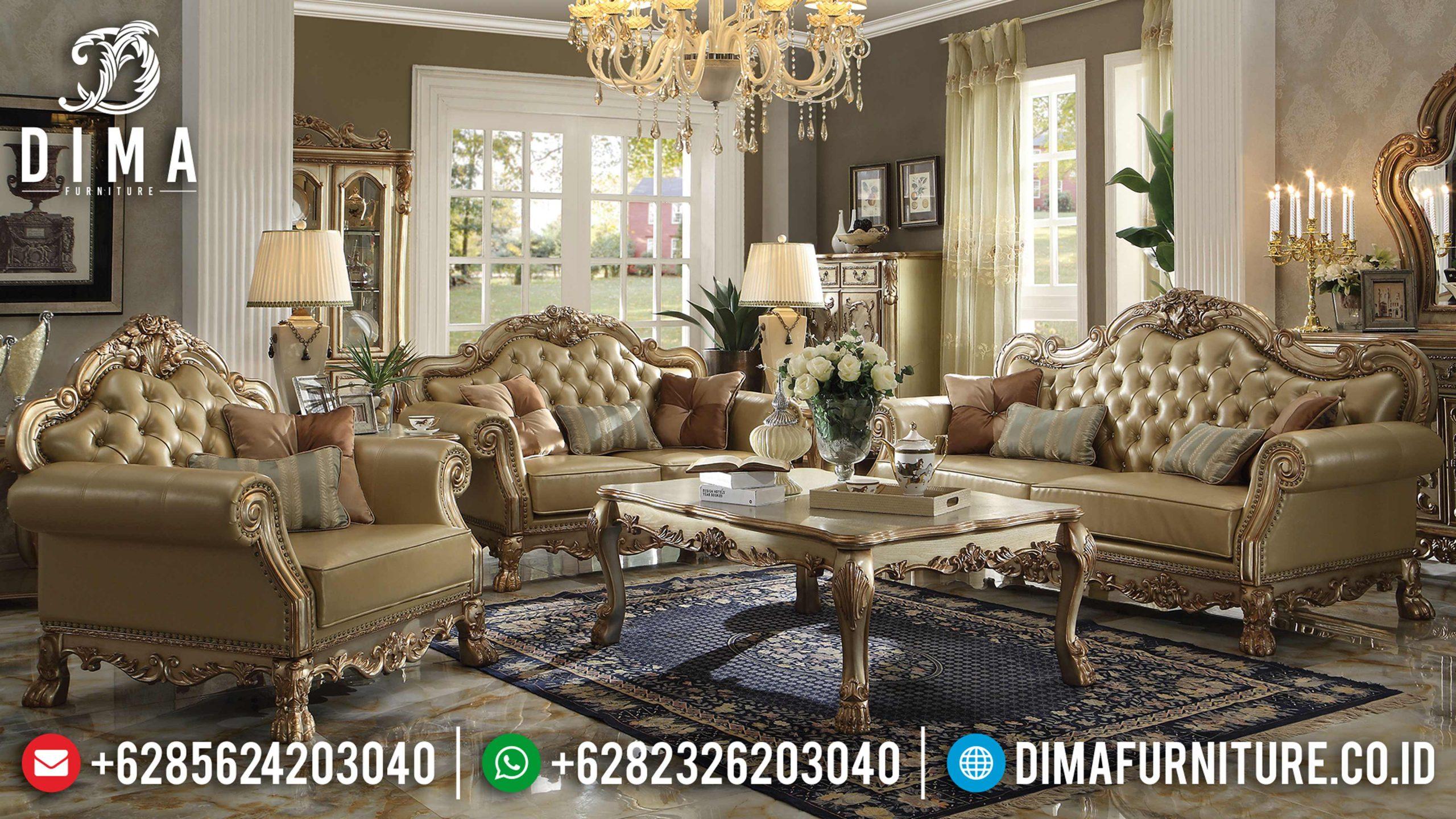 Sofa Tamu Mewah Jepara, Set Kursi Sofa Jepara Terbaru, Kursi Tamu Jati Mewah MM-0261
