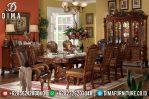 Meja Makan Jati Jepara, Meja Makan Mewah Klasik, Mebel Jepara Terbaru MM-0281