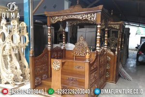 Mimbar Jati Jepara Murah Berkualitas Ukiran Kaligrafi MM-0275
