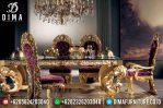 Set Meja Makan Jepara Mewah Ukiran Klasik Duco Emas Italyanskaya MM-0280
