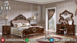 Tempat Tidur Jepara Mewah Kamar Set Klasik Ukiran Jati Milanna MM-0291