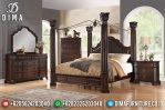 Tempat Tidur Mewah Jati Jepara Model Kanopi Terbaru MM-0301