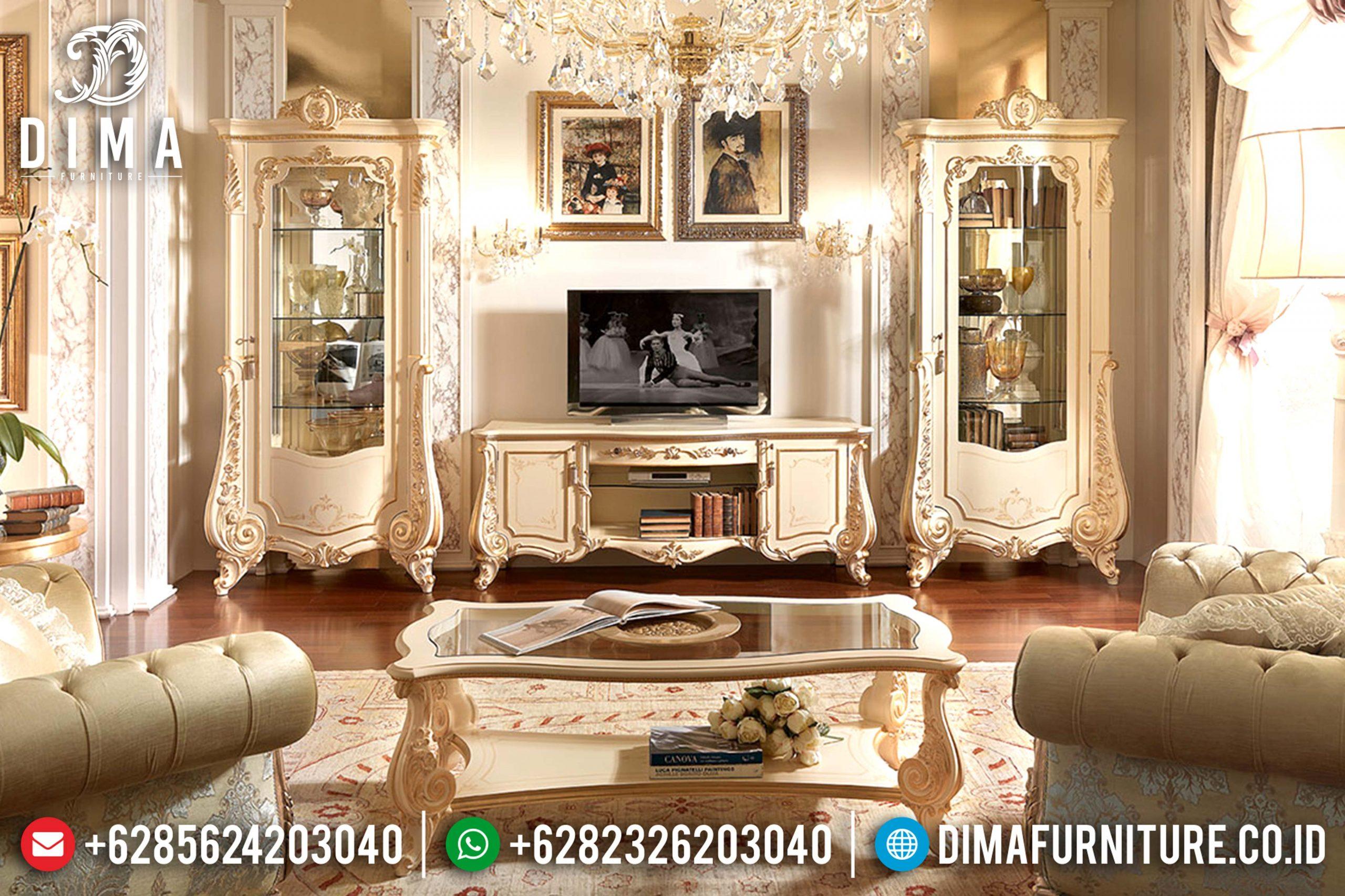 Bufet Jepara Mewah Terbaru, Bufet Tv Mewah Klasik, Lemari Hias Mewah Mm-0323