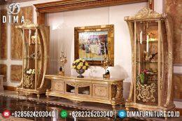 Mebel Jepara Terbaru Bufet TV Mewah Klasik Raffles Duco Gold MM-0320