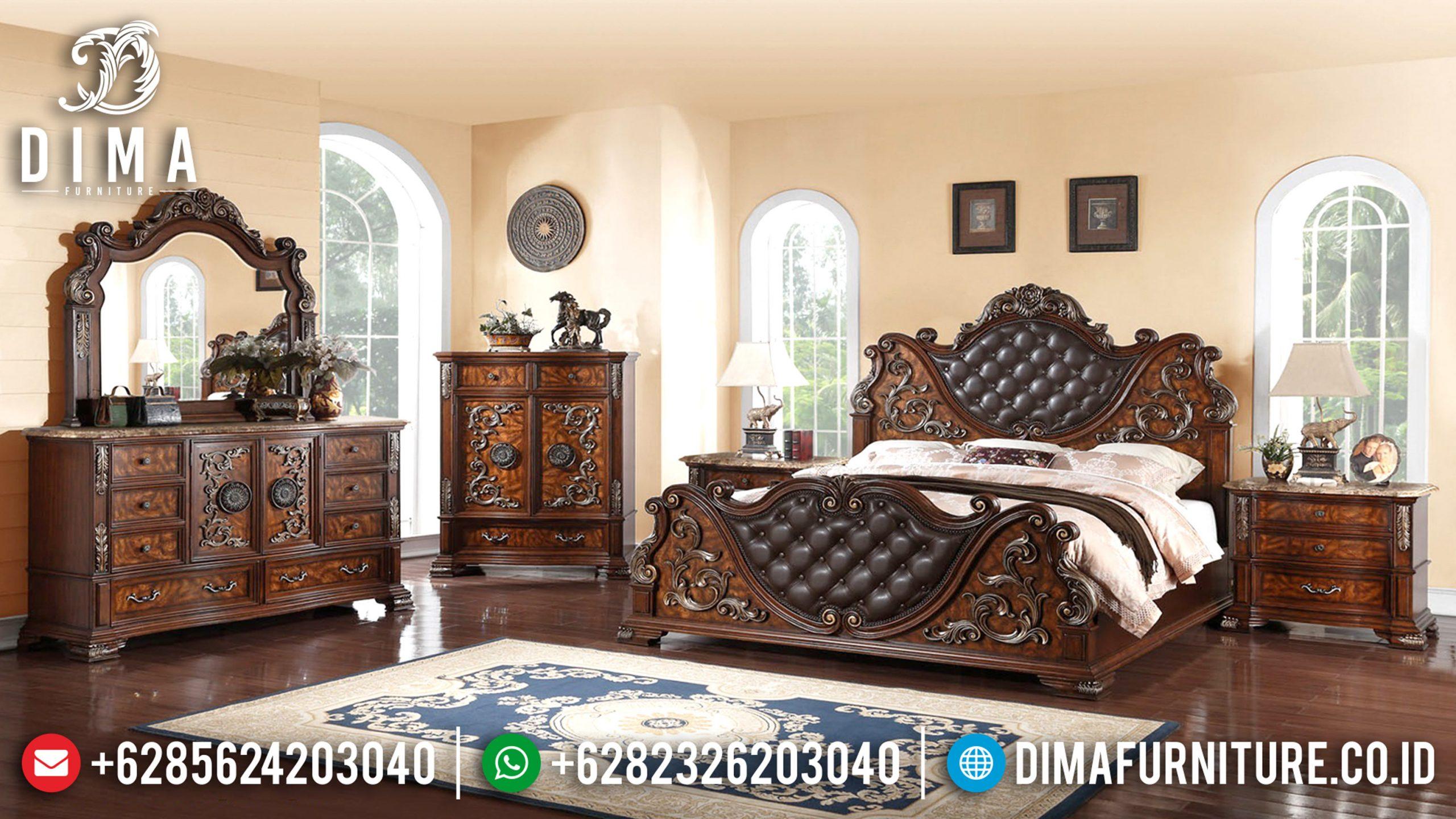 Tempat Tidur Jepara Mewah, Set Kamar Tidur Mewah, Dipan Jati Murah Mm-0325