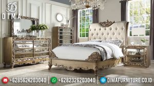 Tempat Tidur Mewah Jepara Klasik Kamar Set Pengantin Terbaru Orianne MM-0326