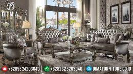 Jual 1 Set Sofa Tamu Jepara Mewah Picardy Silver Duco Terbaru MM-0340