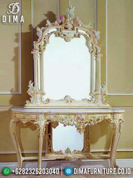 Meja Konsol Mewah Jepara Terbaru Harga Murah Duco Putih Victorian MM-0337
