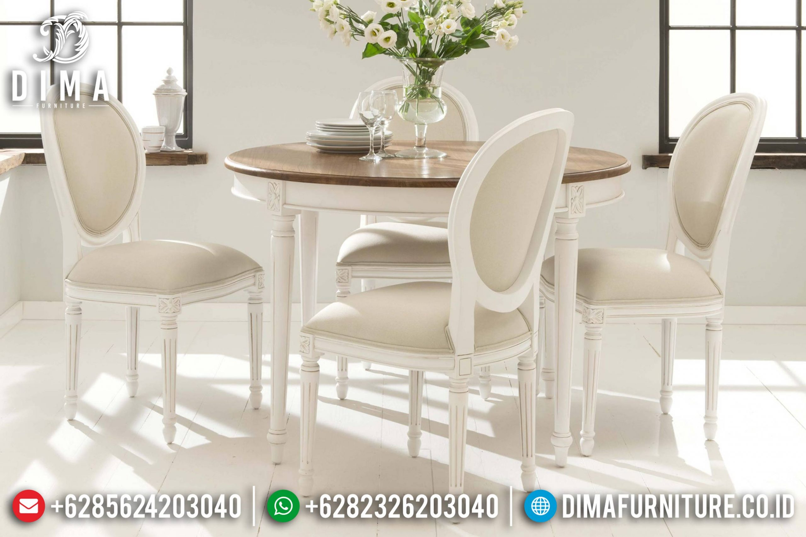 Meja Makan Minimalis Duco, Meja Makan Jepara Terbaru, Mebel Murah Jepara Mm-0334