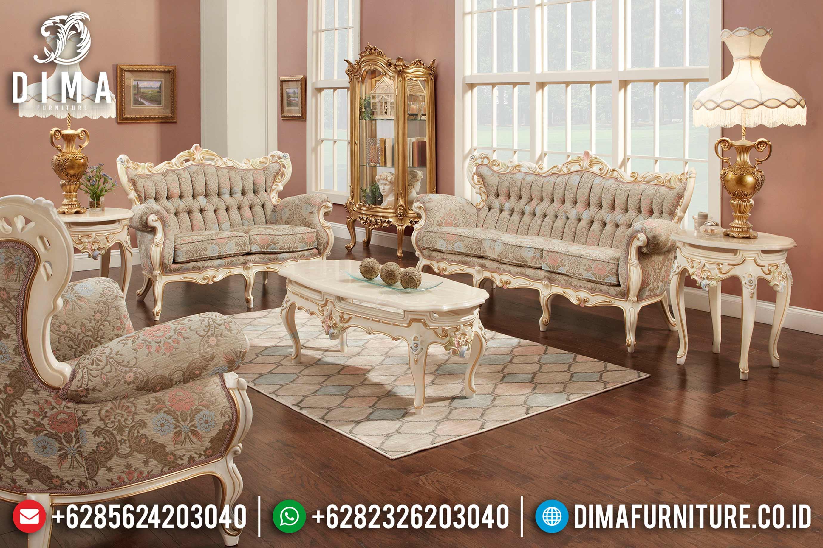 Mebel Jepara Terbaru 1 Set Sofa Tamu Mewah Ukiran Klasik Jepara MM-0350