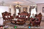 Set Sofa Tamu Jepara Mewah Ukiran Klasik Barcelona Royal MM-0346