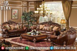 Sofa Tamu Jepara Mewah Classic Terbaru Natural Full Ukir MM-0344