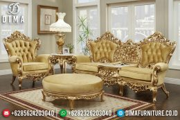 Sofa Tamu Mewah Jepara Full Ukiran Klasik Victorian Duco Emas MM-0351