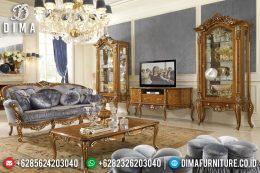 Bufet TV Jepara Mewah Klasik Jati Ukiran Terbaru David Noce MM-0356