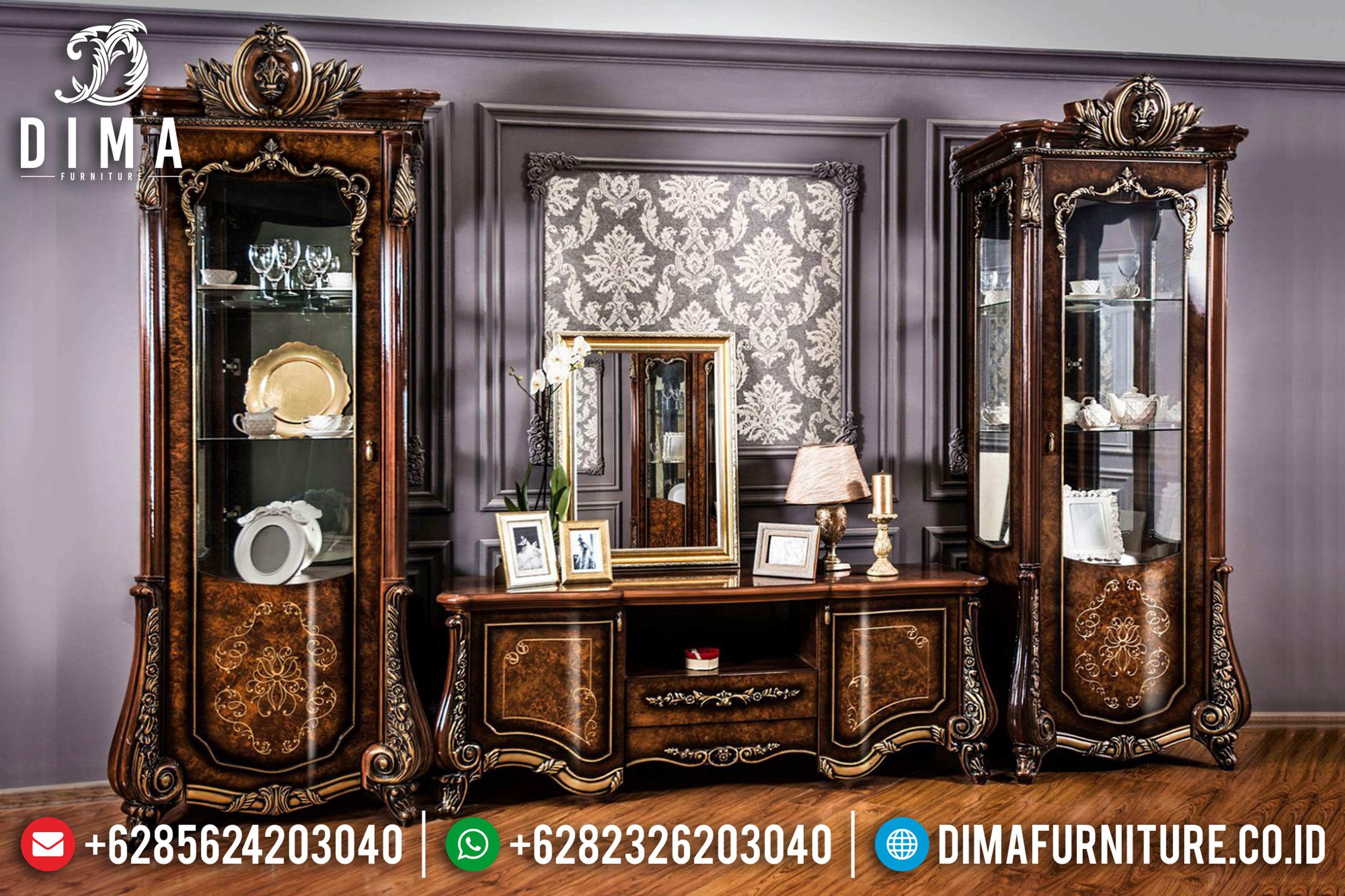 Classic Furniture Lemari Bufet TV Jepara Mewah Marsella Terbaru MM-0360