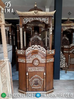 Mimbar Jati Jepara Terbaru, Mimbar Masjid Jati, Mebel Jepara Murah MM-0352