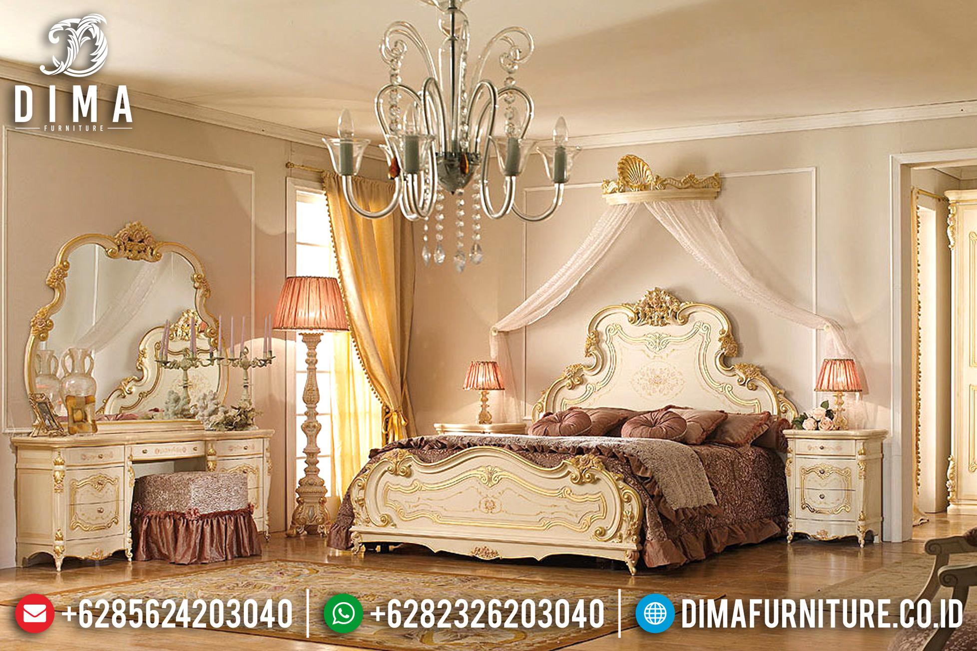 Furniture Indonesia Sale, Tempat Tidur Jepara Mewah, Dipan Klasik Duco Mm-0373
