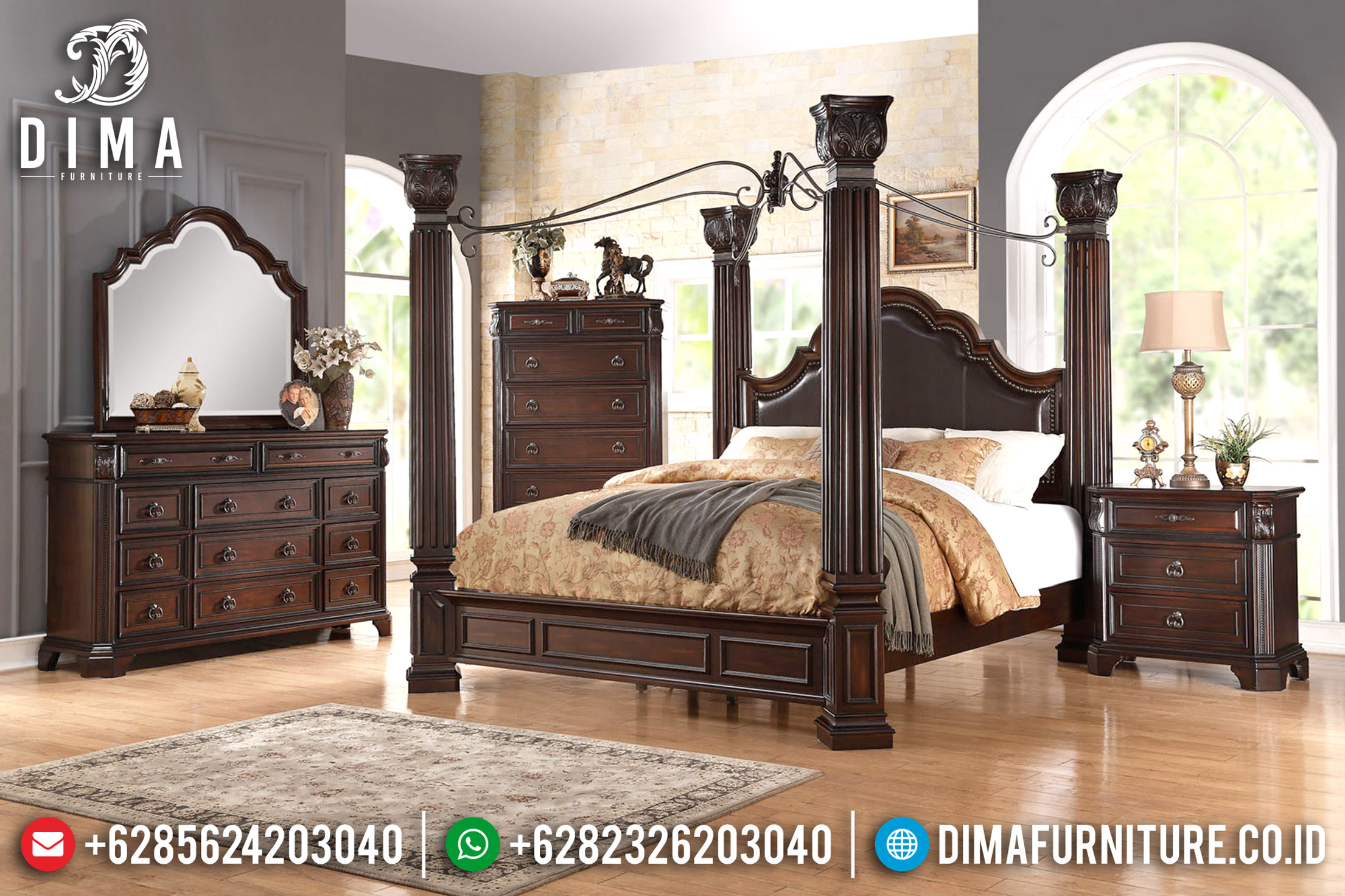 Jual Dipan Murah, Tempat Tidur Minimalis, Kamar Set Mewah Jepara Mm-0371