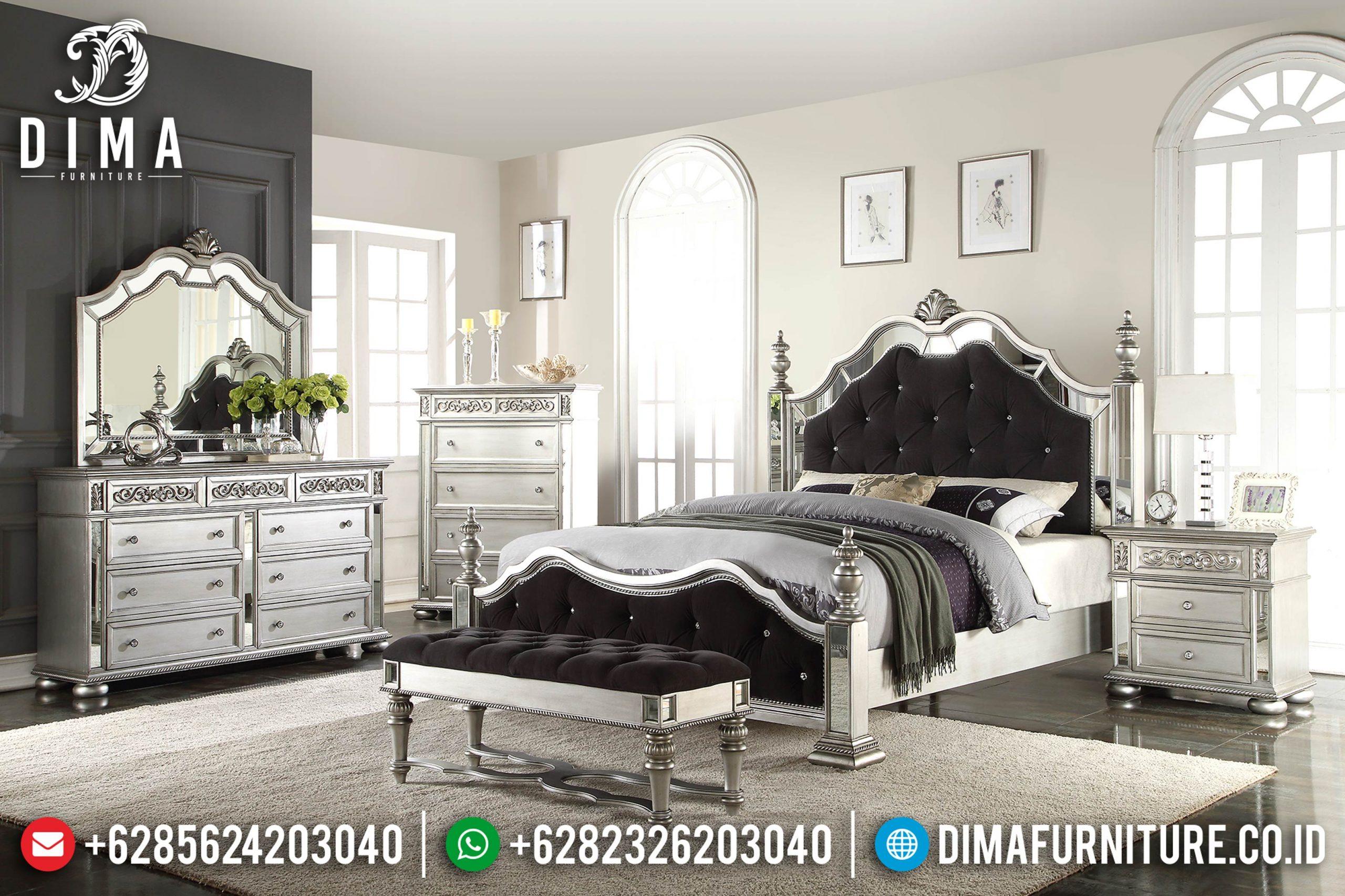 Tempat Tidur Minimalis Jepara Variasi Mirror Silver Cat Duco MM-0368