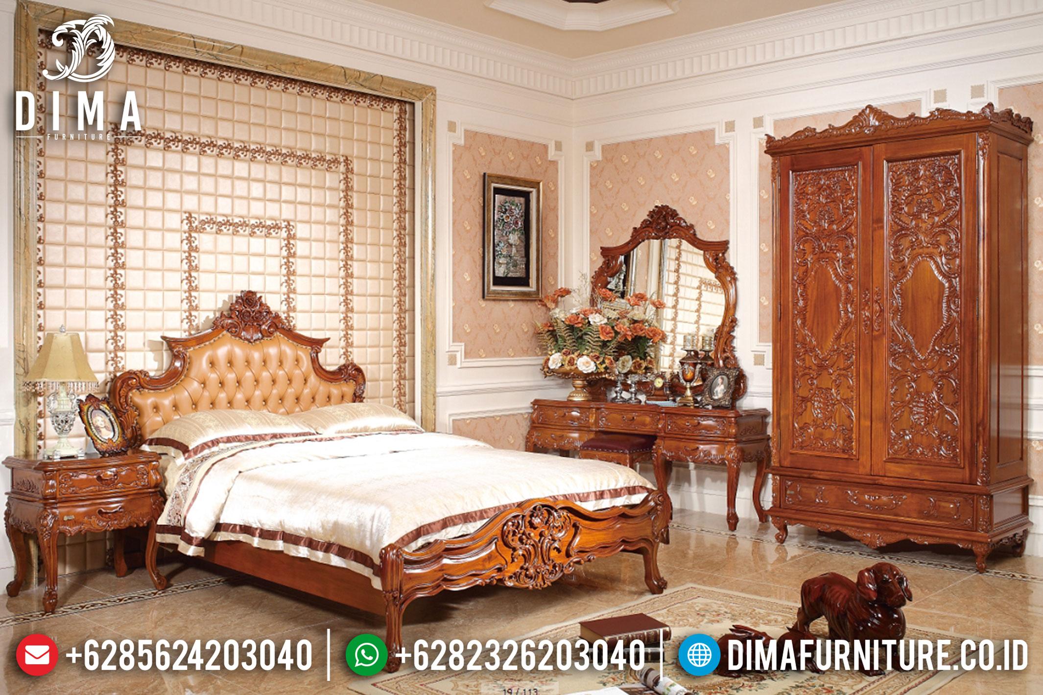 Dipan Jati Jepara, Set Tempat Tidur Mewah, Kamar Set Jati Jepara MM-0398