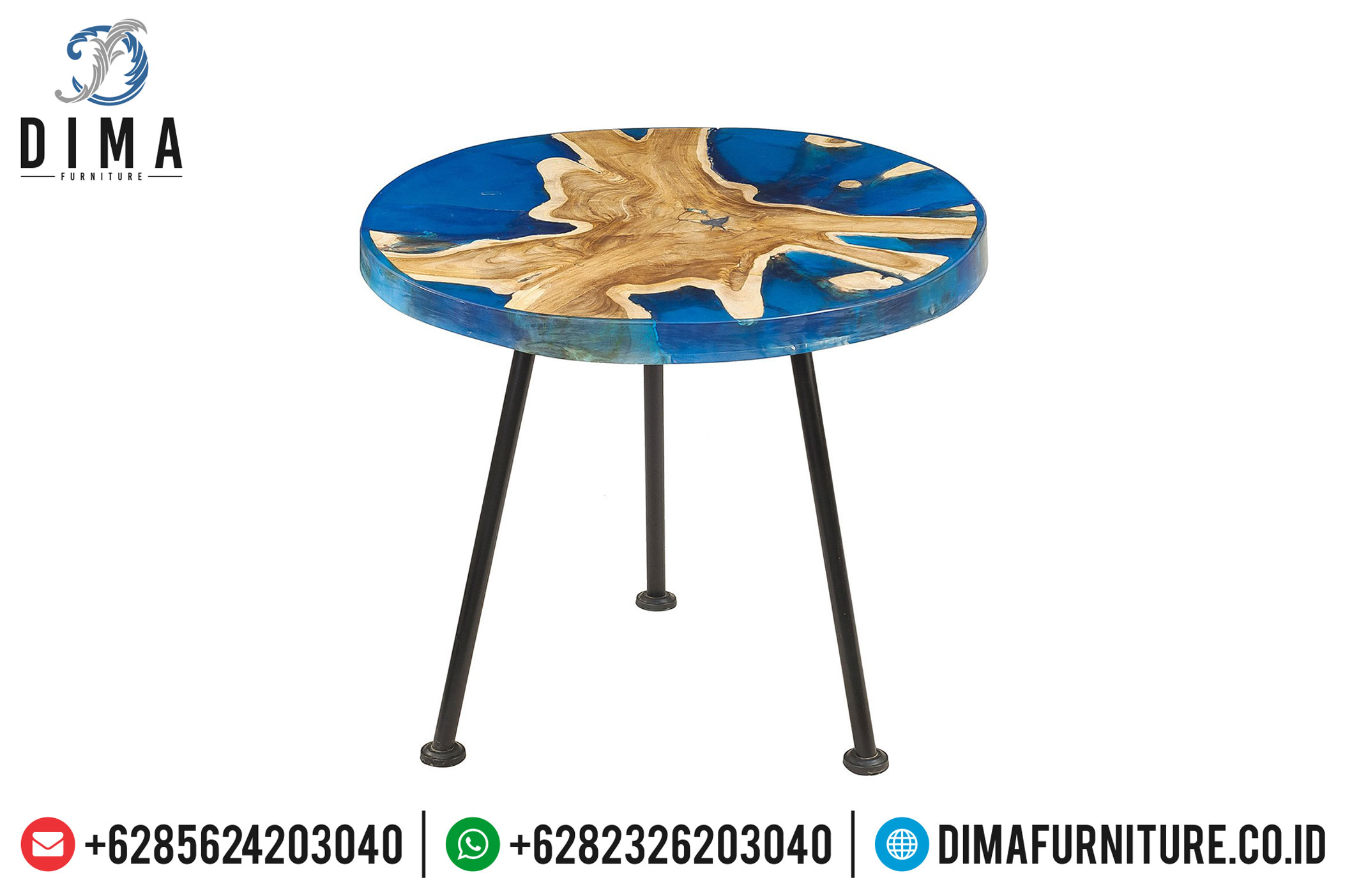 Furniture Resin Indonesia, Meja Resin Minimalis, Wooden Resin Table MM-0382