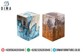 Industrial Furniture, Stool Resin Dan Meja Resin Minimalis, Mebel Jepara MM-0383