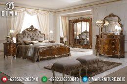 Jual! Tempat Tidur Mewah Jepara Ukiran New Classic Royal MM-0396