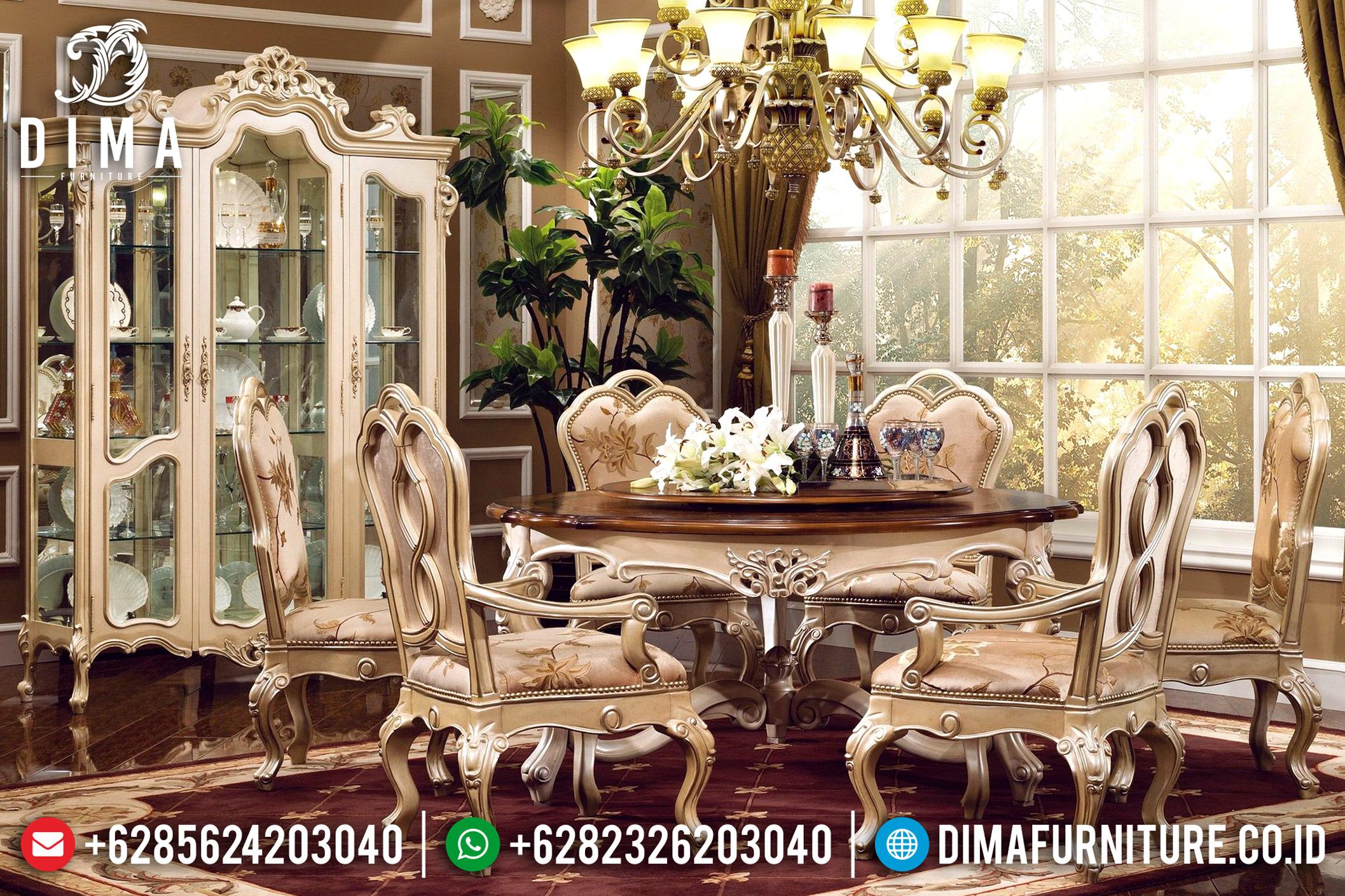 Kursi Meja Makan Bundar, Meja Makan Jepara, Meja Makan Mewah Duco MM-0387