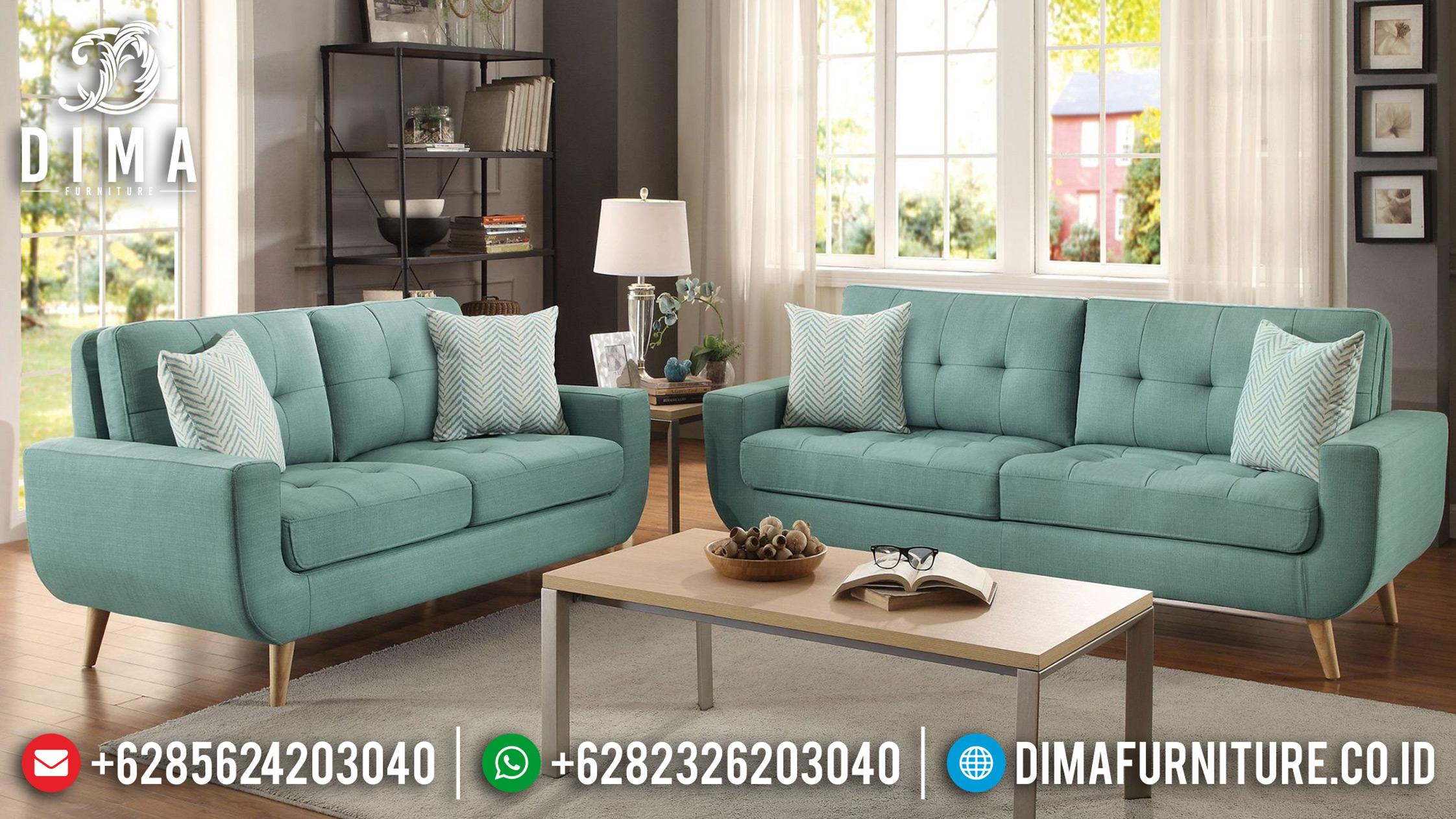 Set Sofa Tamu Jepara Minimalis Loveseat Home Elegan Rangka Jati Mm-0400 Gambar 1