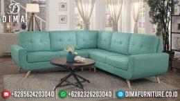Sofa Tamu Minimalis Jepara Sudut L Terbaru Custom Warna Sesuai Selera MM-0403