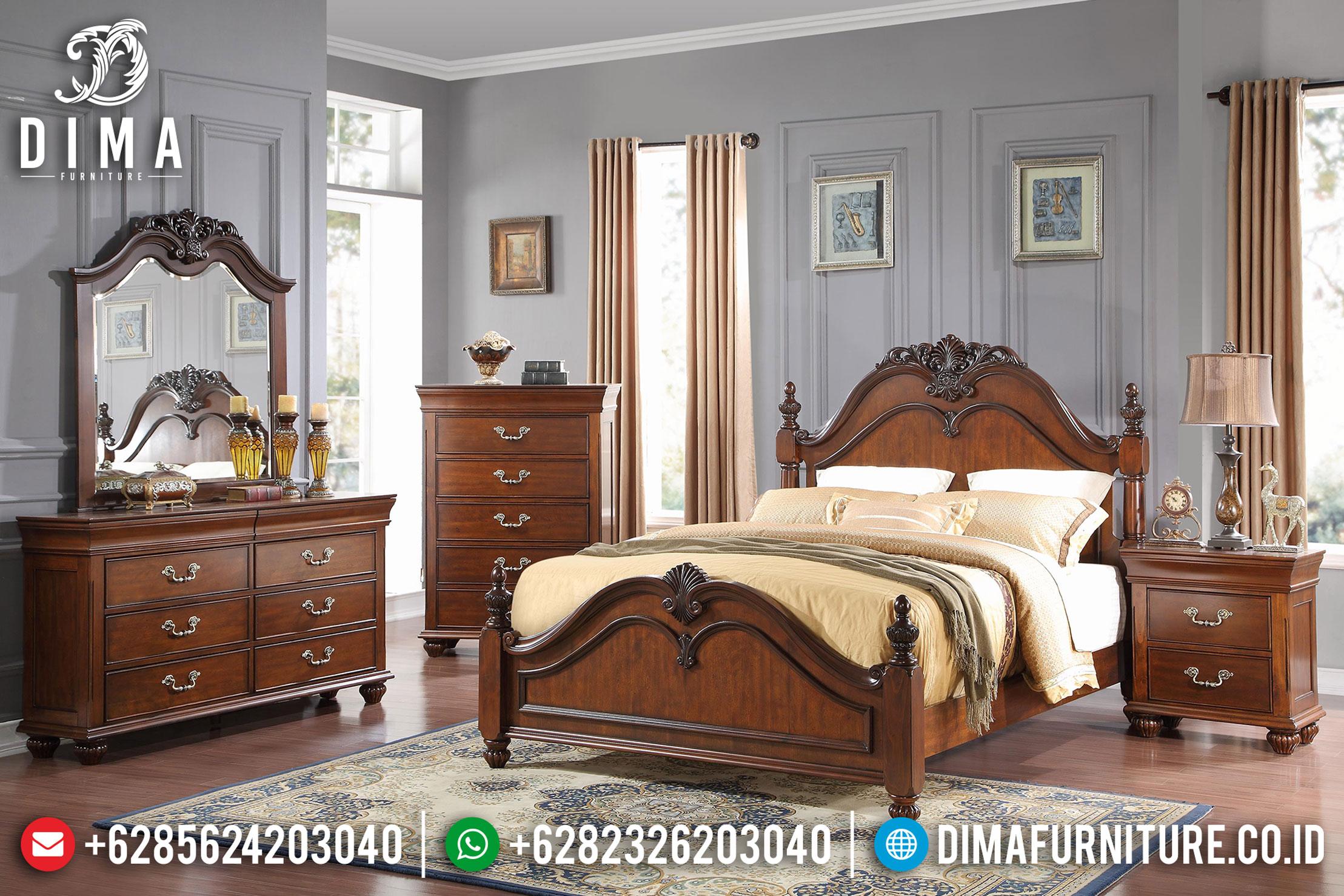 Tempat Tidur Jati Jepara, Tempat Tidur Mewah Minimalis, Kamar Set Jepara MM-0399