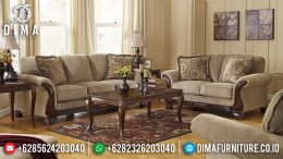 1 Set Sofa Tamu Jepara Minimalis Mewah Jati Natural Salak Finishing MM-0406
