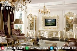 Klasik Furniture Set Bufet TV Mewah Jepara Rose Living MM-0408