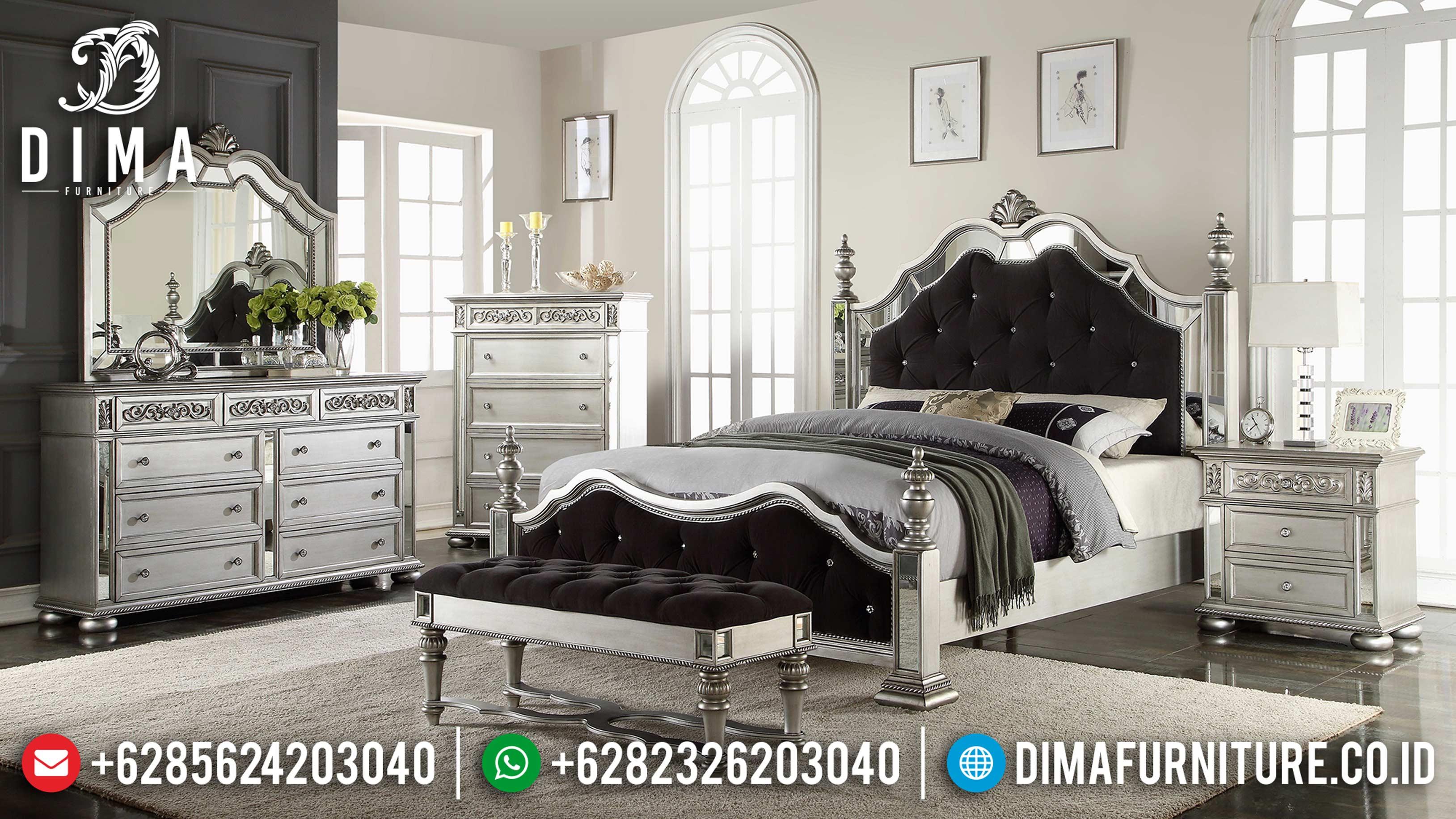 #furniturejepara Tempat Tidur Mewah Jepara Minimalis Silver Duco Mm-0417