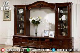 Bufet Tv Jati Klasik Modern Mewah Terbaru MM-0441