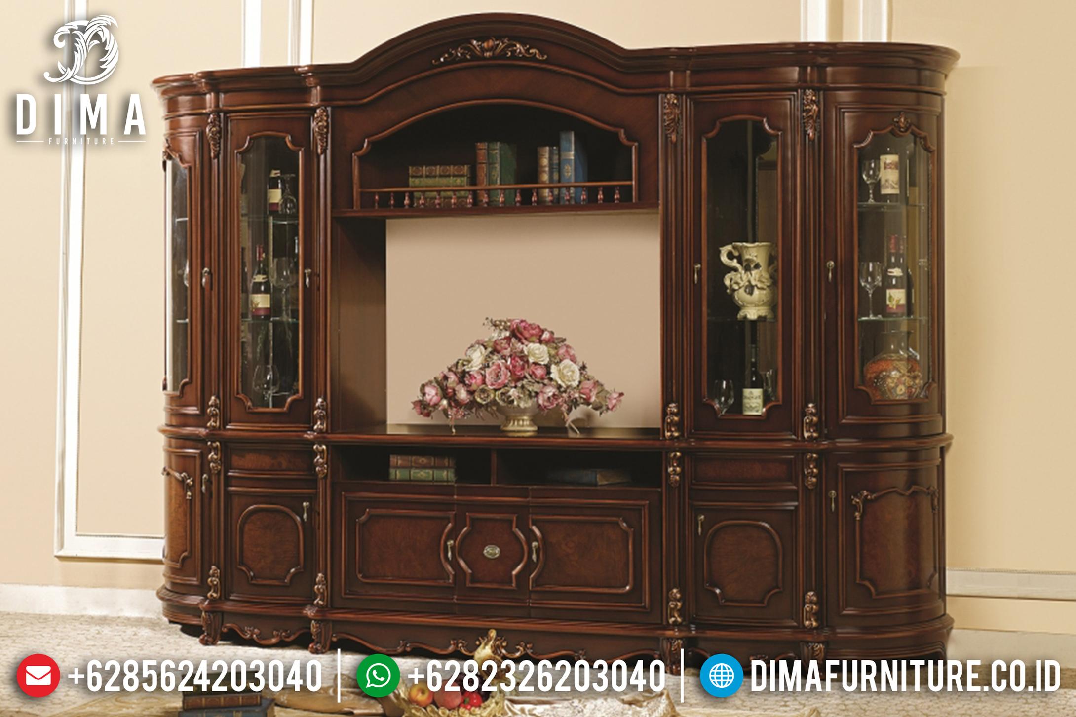 Bufet Tv Jati Mewah Modern Mebel Jepara Terbaru MM-0440