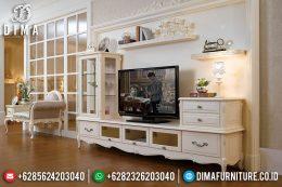 Bufet Tv Putih Klasik Modern Mewah Terbaru MM-0494