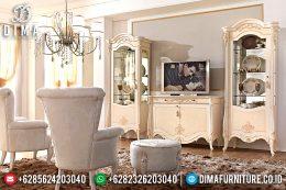 Set Bufet Tv Mewah Duco Putih Klasik Terbaru MM-0495
