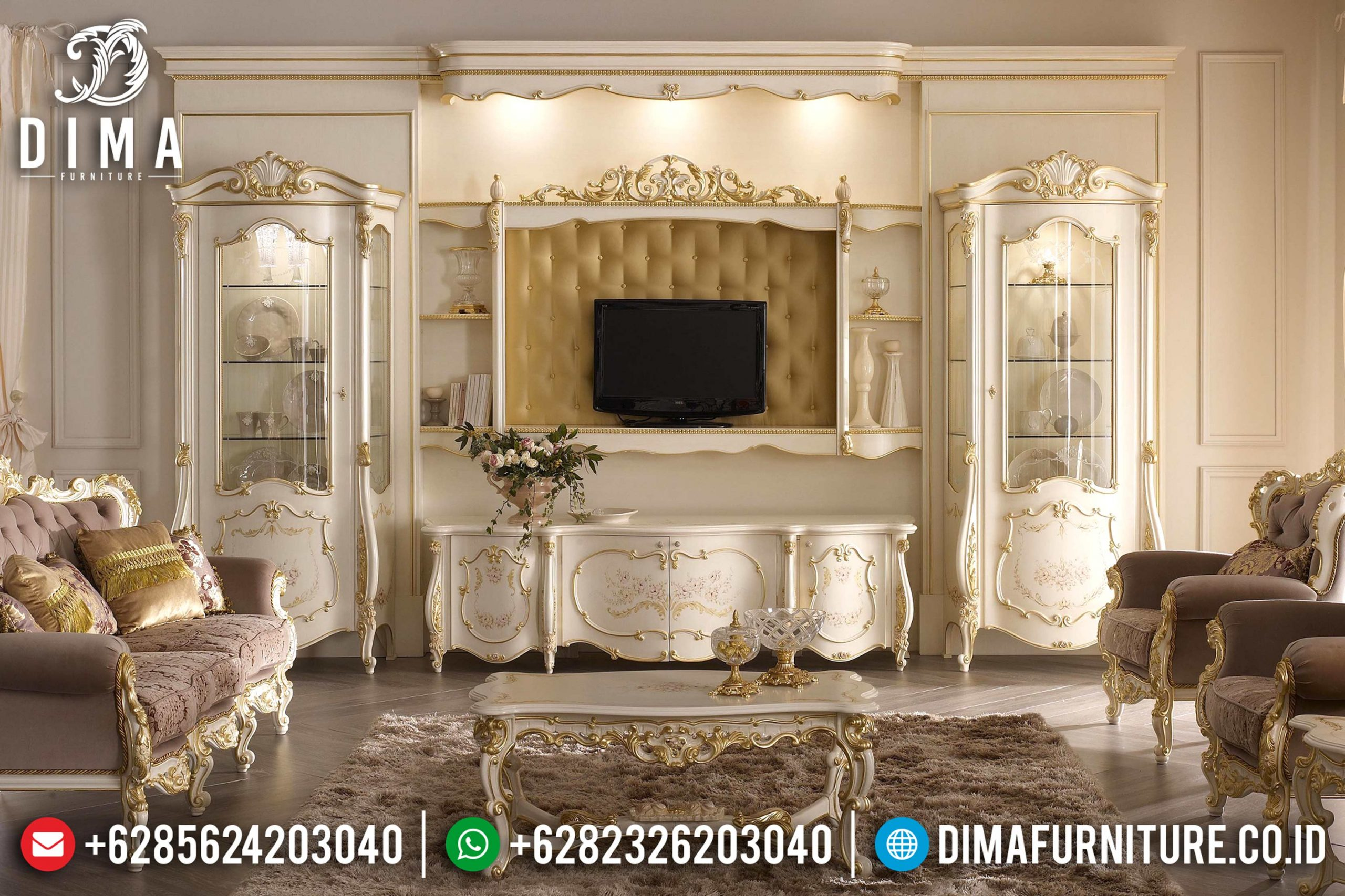 Set Bufet Tv Mewah Elegan Klasik Mebel Jepara MM-0429