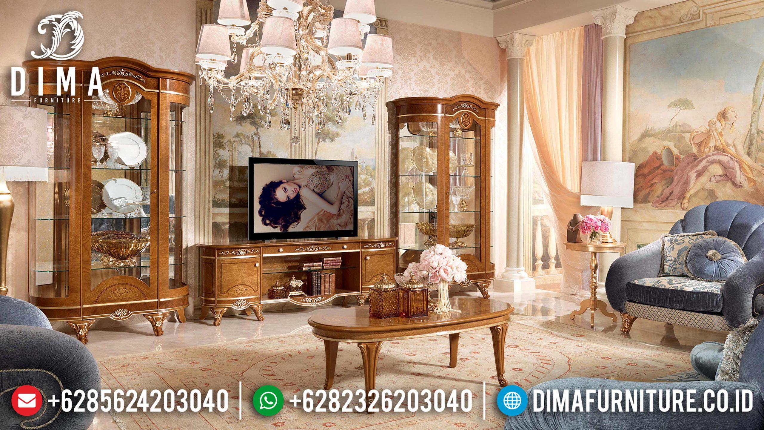 Set Bufet Tv Mewah Model Eropa Klasik Terbaru MM-0488