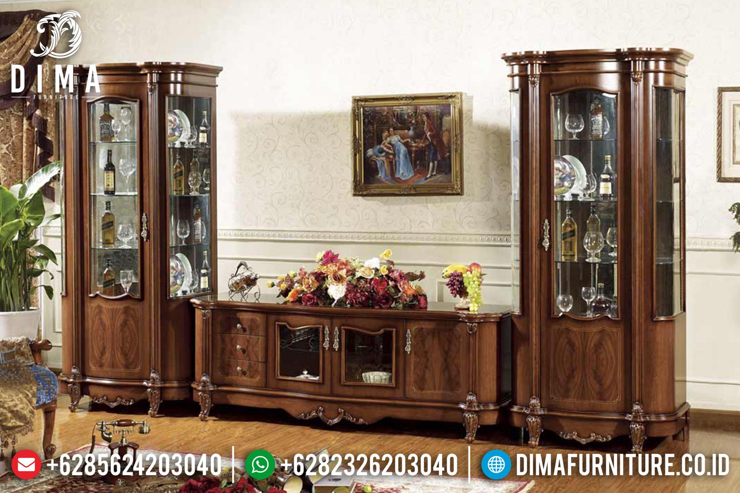 Set Bufet Tv Mewah Model Klasik Modern Terbaru MM-0443