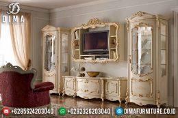 Set Bufet Tv Mewah Ukir Jepara Klasik Terbaru MM-0497