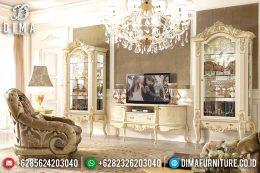 Set Bufet Tv Ukir Jepara Klasik Mewah Terbaru MM-0451