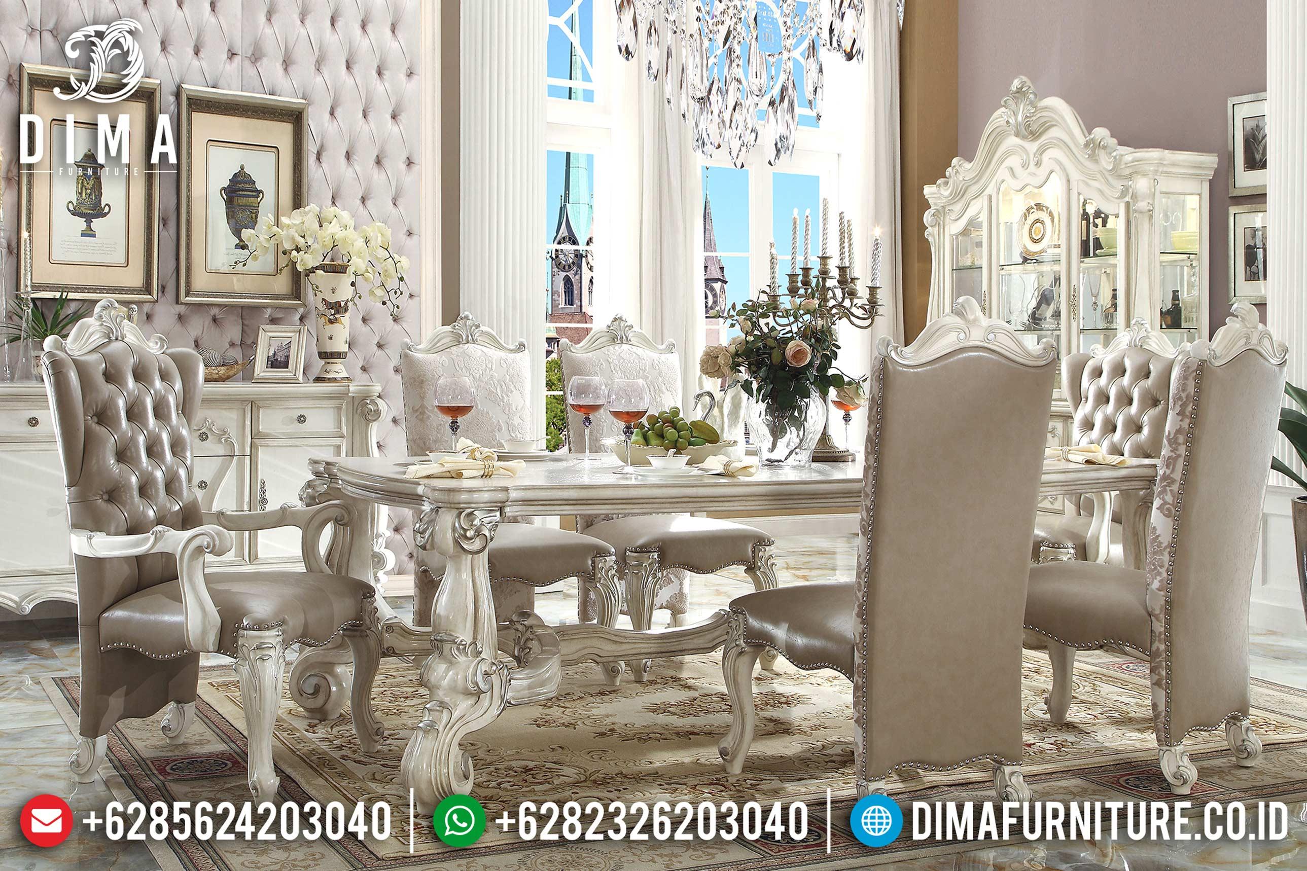 Set Meja Kursi Makan Mewah Victorian Terbaru MM-0492