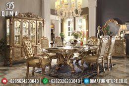 Set Meja Makan Duco Emas Mewah Klasik Terbaru MM-0491
