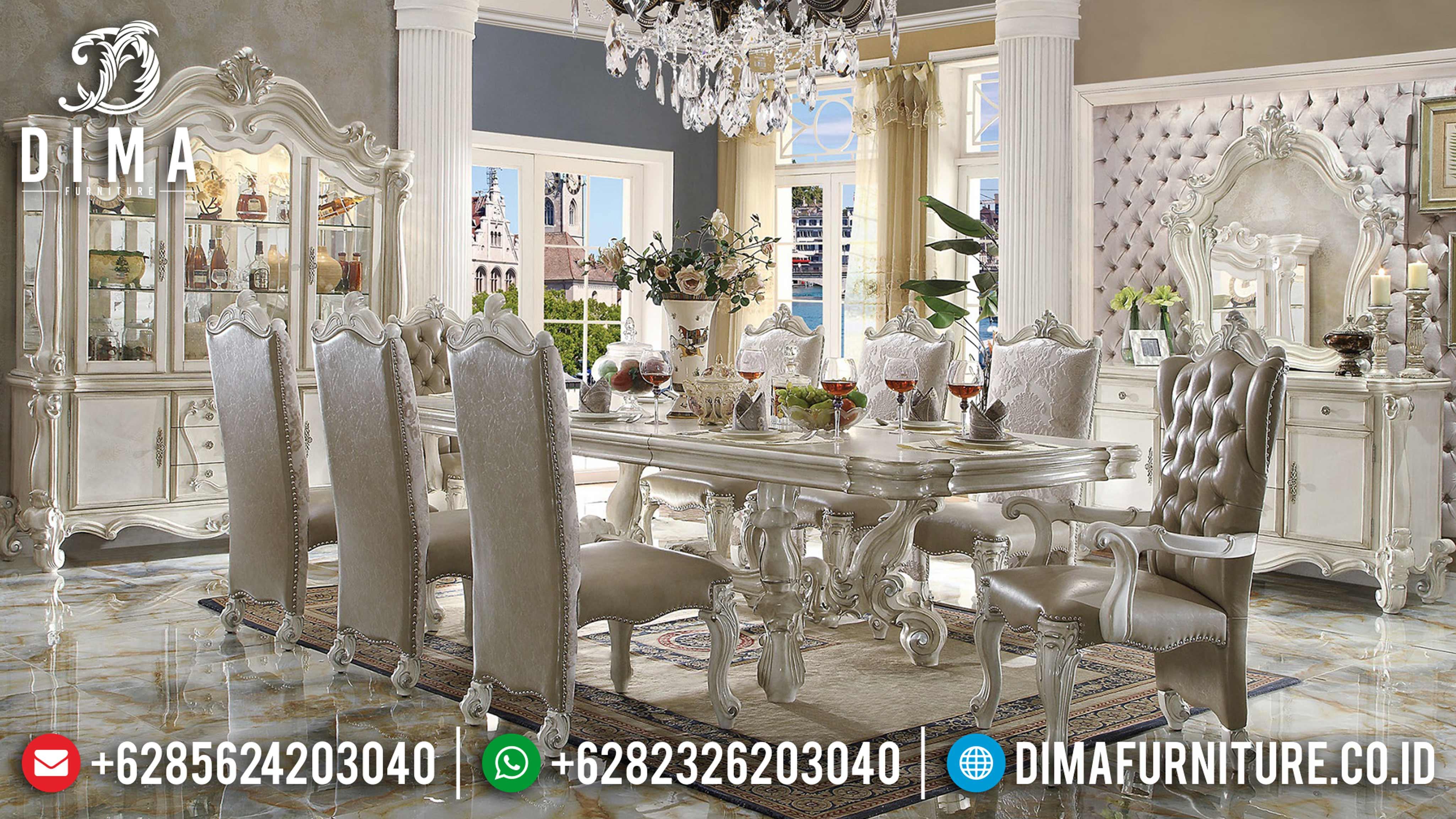 Set Meja Makan Klasik Mewah Ukir Jepara Terbaru MM-0471