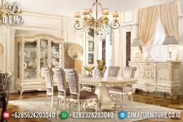 Set Meja Makan Mewah Klasik Modern Duco Terbaru MM-0452