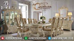 Set Meja Makan Mewah Minerva Ukir Jepara Klasik Terbaru MM-0463