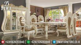 Set Meja Makan Ukir Jepara Klasik Mewah Terbaru MM-0465